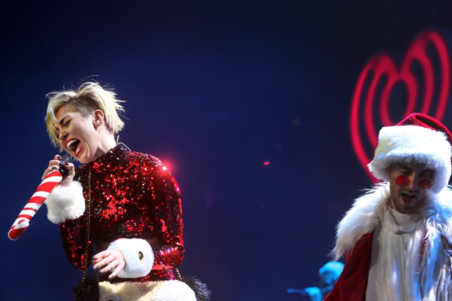 Miley Cyrus performs at KIIS-FM's Jingle Ball 2013 at Staples Center in Los Angeles.