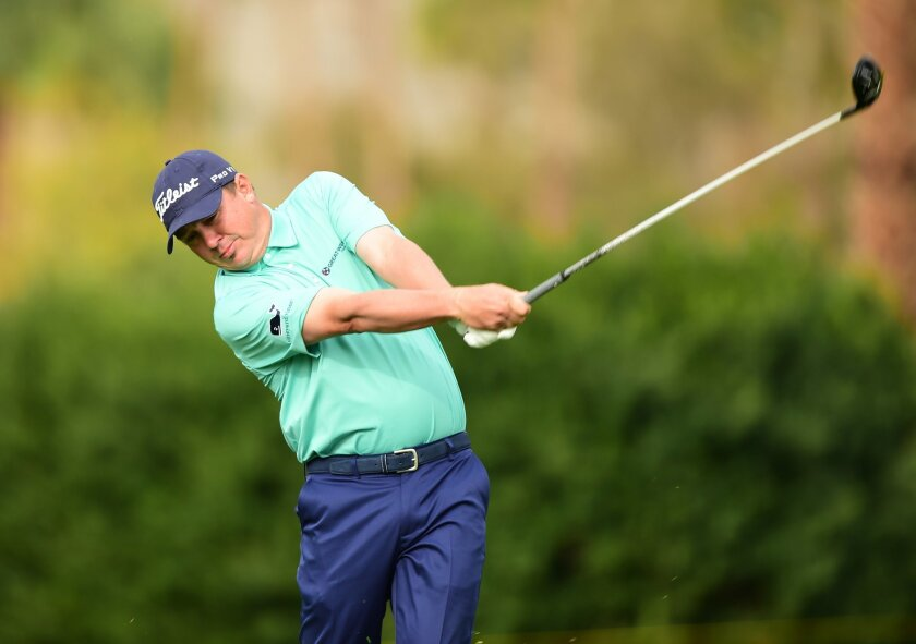 LA QUINTA, CA - JANUARY 23: Jason Dufner plays his second shot on the 11th hole during the third round of the CareerBuilder Challenge In Partnership With The Clinton Foundation at La Quinta Country Club on January 23, 2016 in La Quinta, California. (Photo by Harry How/Getty Images) ** OUTS - ELSENT, FPG, CM - OUTS * NM, PH, VA if sourced by CT, LA or MoD **