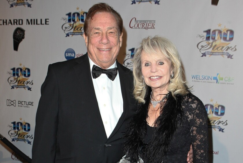 Donald Sterling and wife Shelly arrive at the Night of 100 Stars Awards Gala in Beverly Hills in 2011.