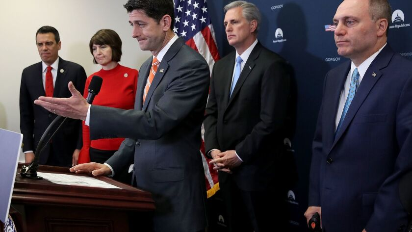 Speaker Paul Ryan And House Leadership Address The Press After Their Weekly Caucus Meeting