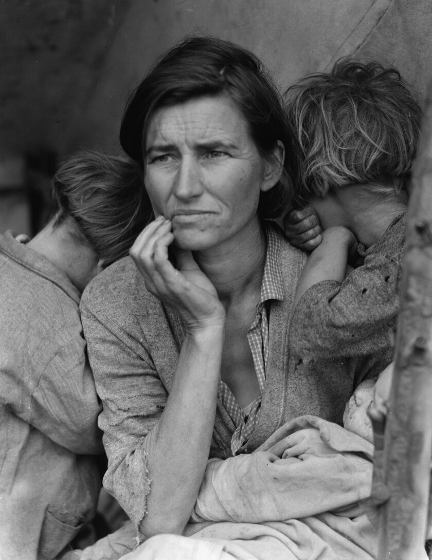 "Dorothea Lange's ""Migrant Mother,"" 1936."