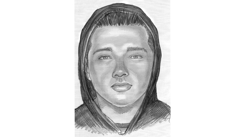 A sketch of the gunman in the killing of Juan Ramirez-Mendez.