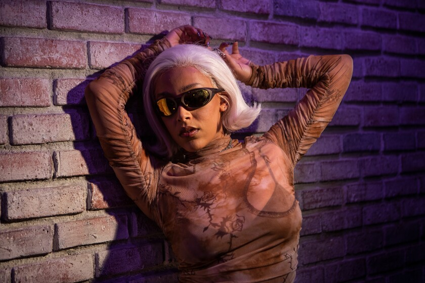 L.A. singer-rapper Doja Cat photographed at Sound Factory in Hollywood in October.