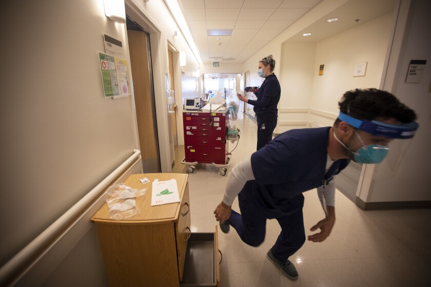 COVID-19 hospitalizations in L.A. County have surged to a new high.