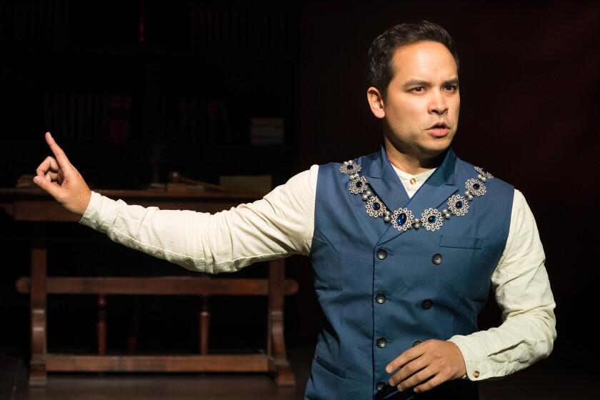 "Ramón de Ocampo in Antaeus' production of ""Measure for Measure."""