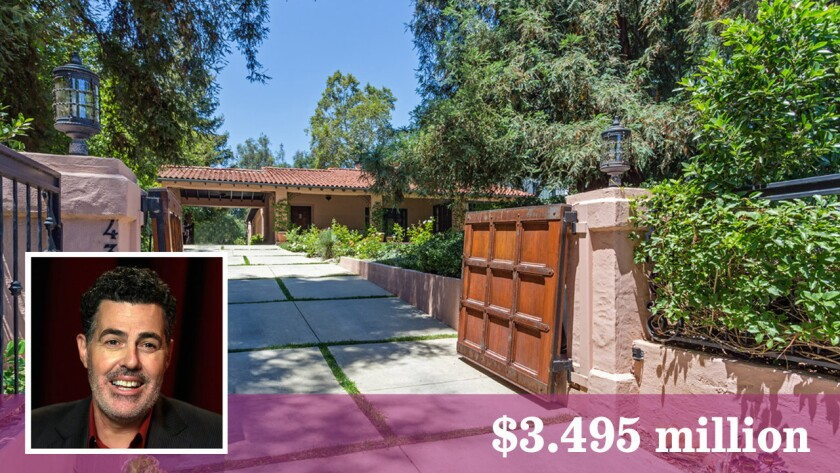 Adam Carolla has listed his home in La Cañada Flintridge for sale at $3.495 million.