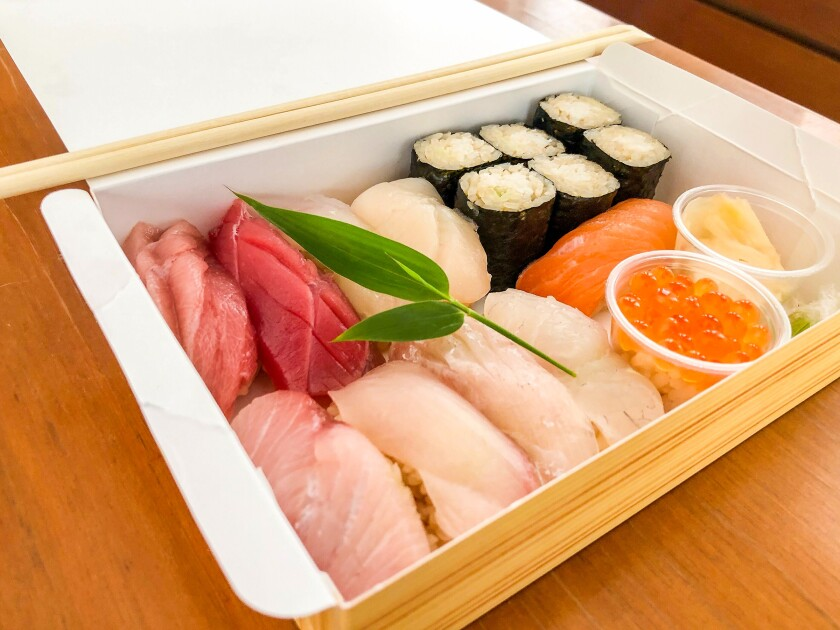 To-go sushi bento from Shunji in Sawtelle.
