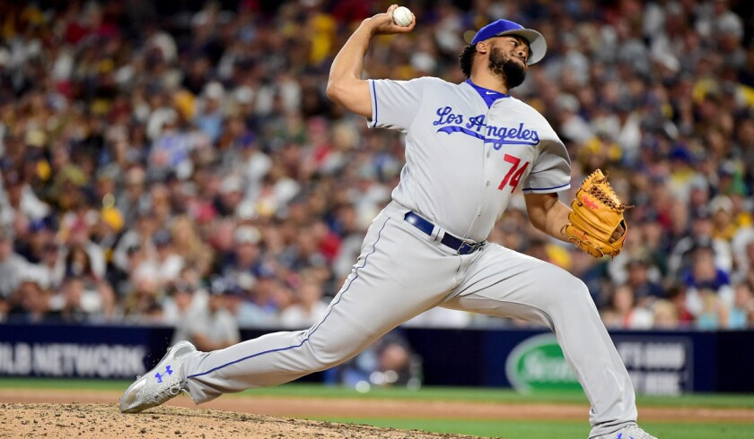 Dodgers closer Kenley Jansen, shown during the All-Star game, has 34 saves this season.