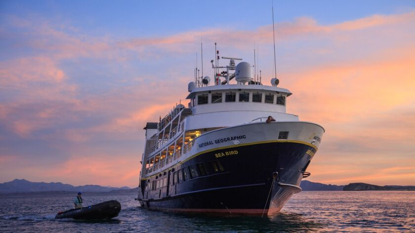 National Geographic Sea Bird ship in Baja Mexico, home for the cruise.