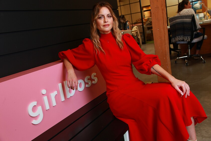 "LOS ANGELES, CA., JUNE 25, 2019—Sophia Amoruso, author of ""Girlboss"" and founder of Girlboss Media,"