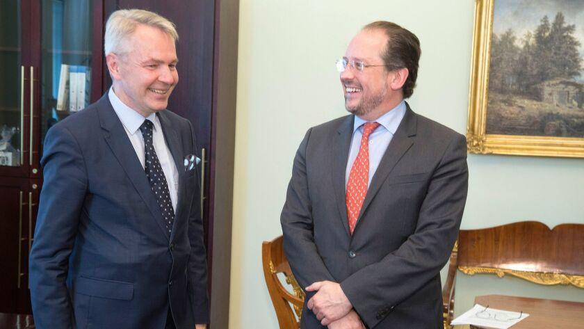 Alexander Schallenberg, Minister of Foreign Affairs of Austria, visits Finland, Helsinki - 24 Jun 2019