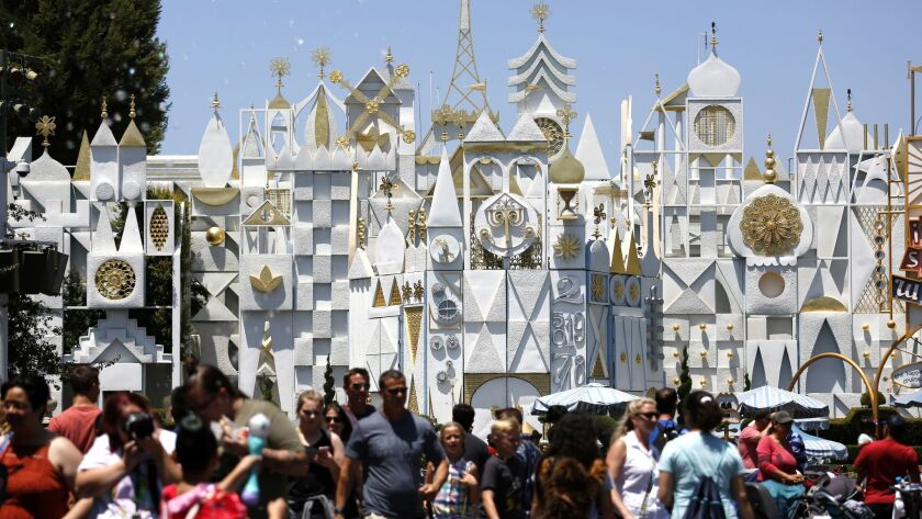 To improve pedestrian traffic throughout Disneyland, the park has moved the queue line for It's a Small World, part of a larger effort to ease congestion before the new Star Wars land opens this summer.