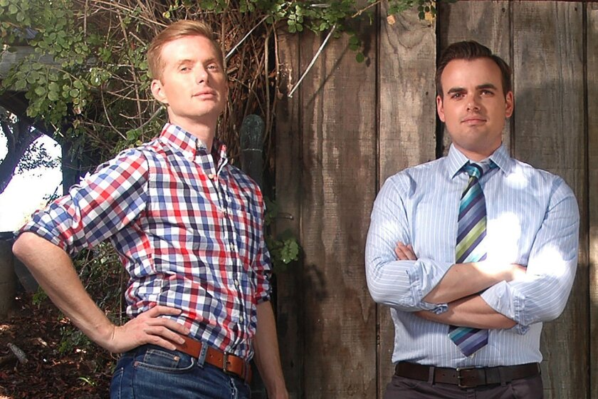 """Geoffrey Taft and Joshua Altman, both from San Diego, are competing on FYI network's home-renovation show """"Rowhouse Showdown."""" Results will be announced Wednesday, Sept. 10."""