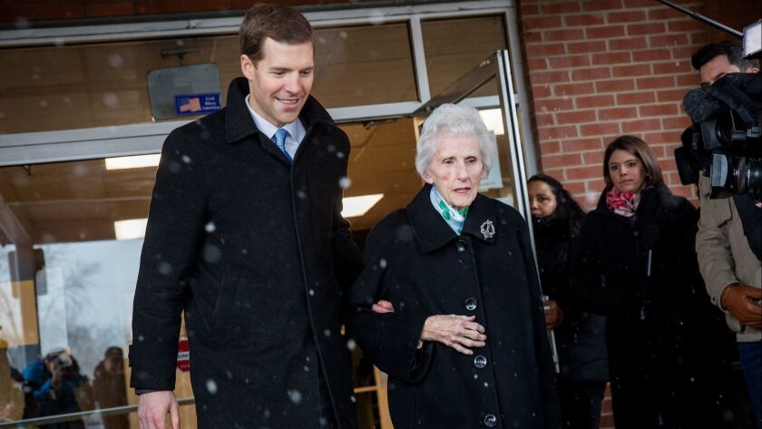 Democratic Candidate In Pennsylvania's 18th District Conor Lamb Votes In Special Election