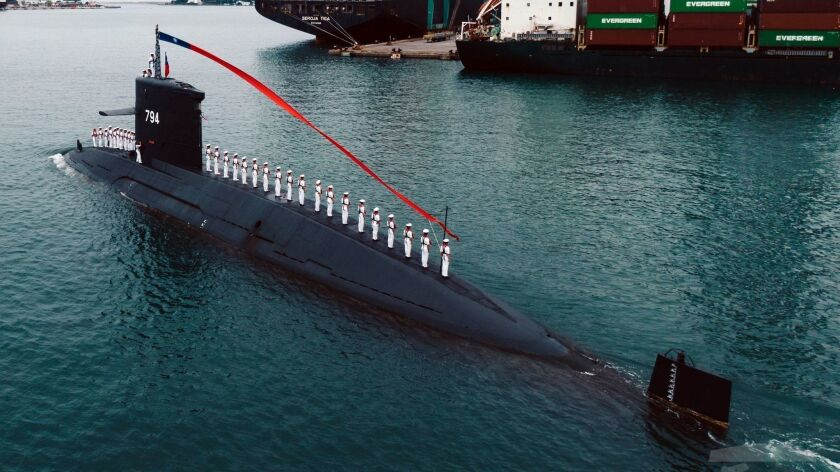 Taiwan holds ground-breaking ceremony for a submarine manufacturing plant, Kaohsiung - 09 May 2019