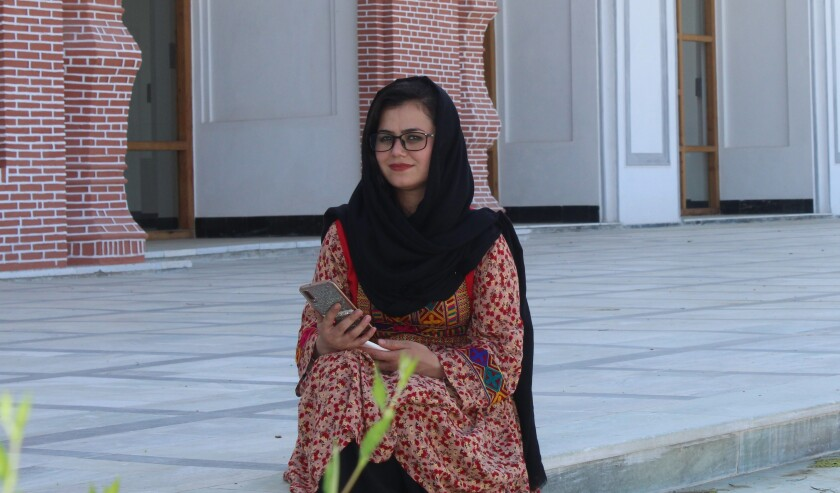 Tamana Bahar fears for her safety in Afghanistan
