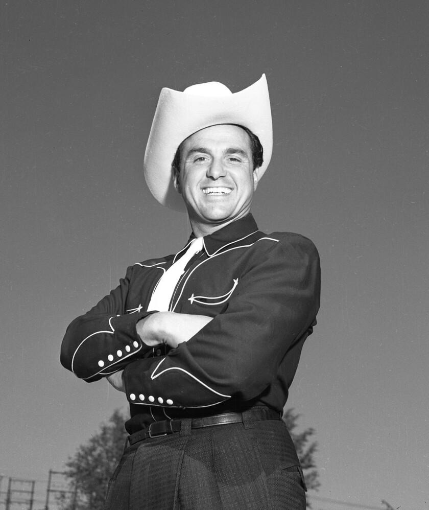 Stan Irwin in western attire in 1953.