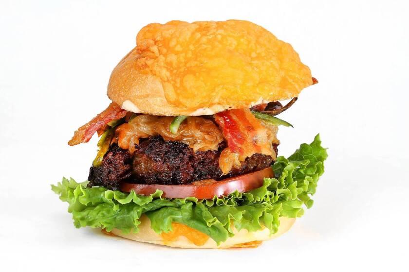 """""""H-Bomb"""" burger."""