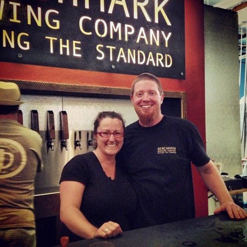 Matt and Rachael Akin of Benchmark. Courtesy Benchmark Brewing