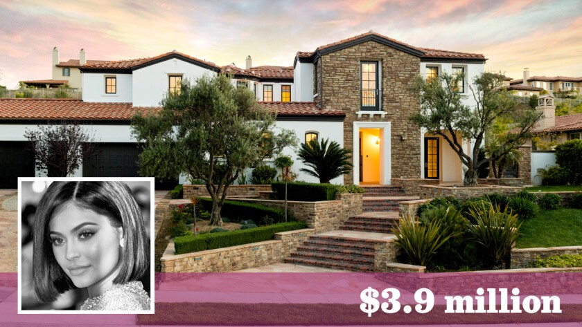 """""""Keeping Up With the Kardashians"""" costar Kylie Jenner, who bought a new house in Hidden Hills earlier this year, has put her starter home in Calabasas on the market for $3.9 million."""