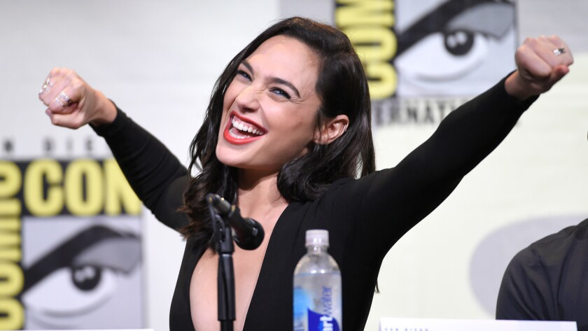 """Gal Gadot looks dynamite as Diana Prince in the new """"Wonder Woman"""" movie."""