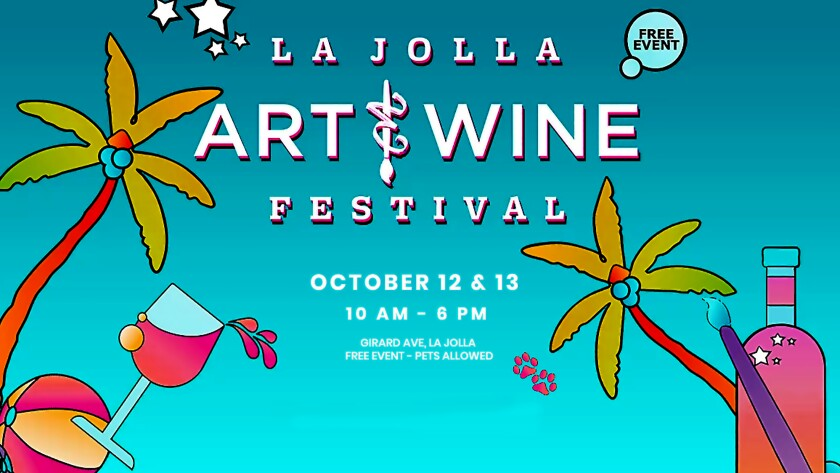 The 2019 and 11th annual La Jolla Art & Wine Festival runs 10 a.m. to 6 p.m. Saturday, Oct. 12 and Sunday, Oct. 13 along Girard Avenue, where there will also be a food court, wine and beer gardens, children's activities, a silent auction, pet adoptions and street entertainers. Admission is free.
