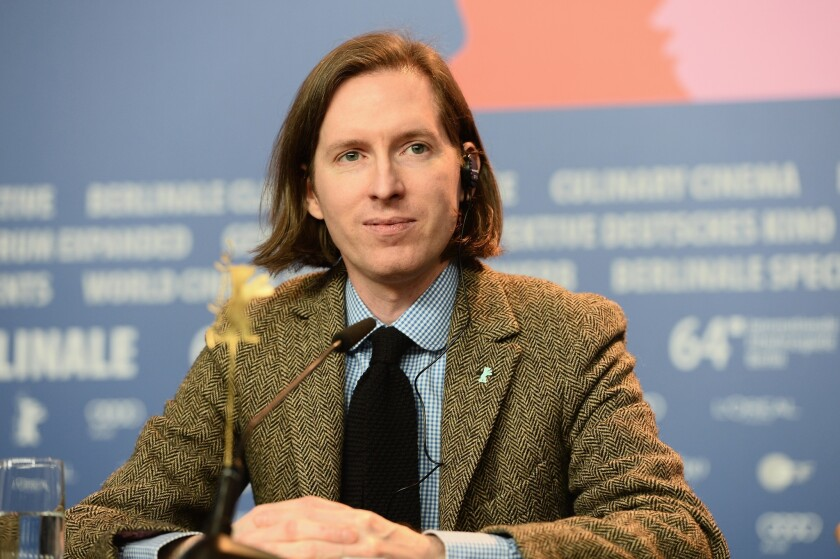 """Wes Anderson discusses his latest film, """"The Grand Budapest Hotel,"""" at the 64th Berlinale International Film Festival."""