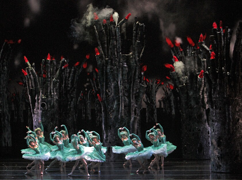 "Members of New York's American Ballet Theatre perform in a production of ""Firebird"" at the Segerstrom Center for the Arts in Costa Mesa in 2012. The Library of Congress will acquire the company's archive."