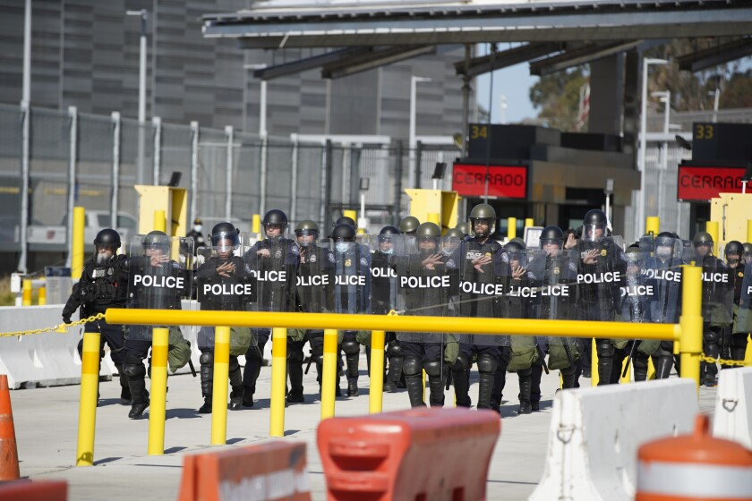 CBP exercise at San Ysidro Border Crossing on Wednesday, March 17