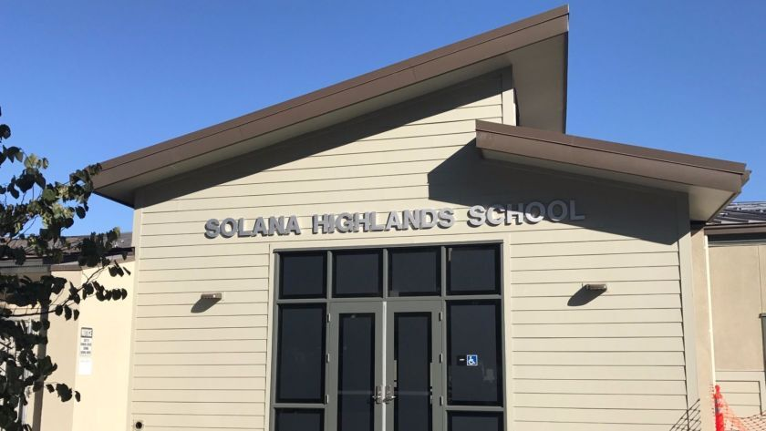Solana Highlands School in Carmel Valley will transition into a K-6 school from a K-3 school starting this fall.