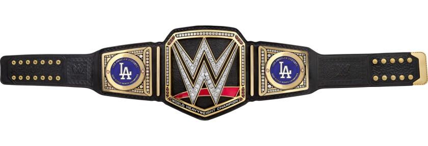A Dodgers wrestling belt.