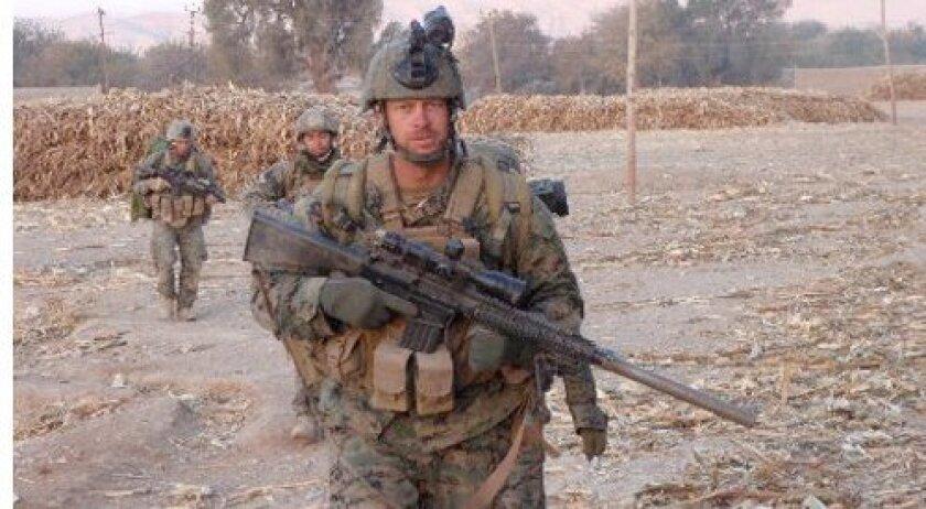 Master Sgt. David A. Jarvis on patrol in Afghanistan. Photo: U.S. Marine Corps