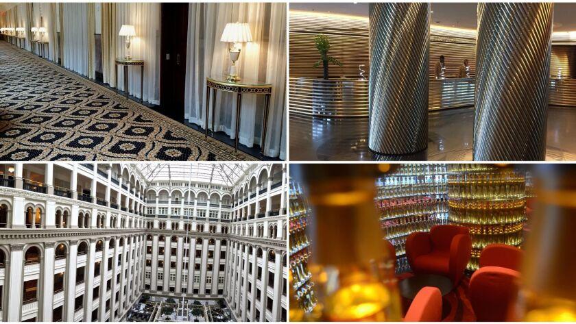 The Watergate and Trump International hotels, Washington, D.C.