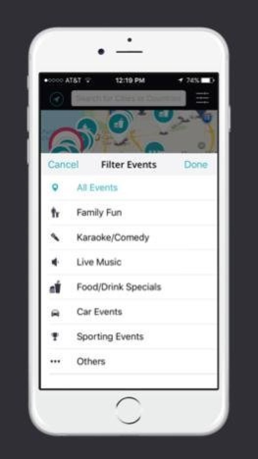A screen capture of the 'Go Out' app.