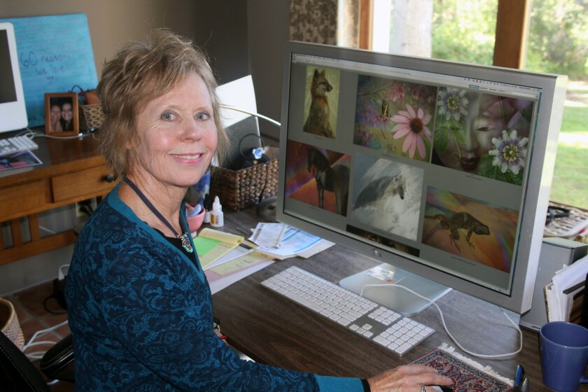 Rancho Santa Fe artist Annie Omens specializes in digital art. Photo by Karen Billing