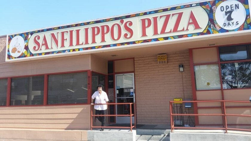 Anna Sanfilippo, owner of Sanfilippo's Pizza on La Mesa Boulevard, has been treating her customers like family for 40 years.