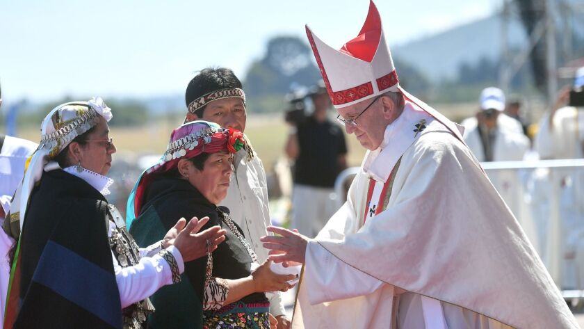 Pope Francis visits Chile, Temuco - 17 Jan 2018