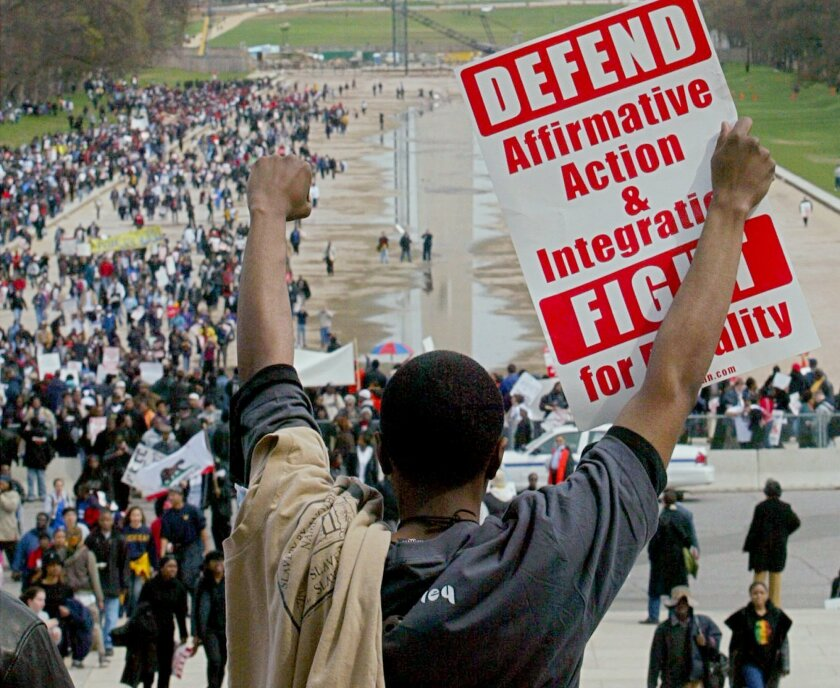 Affirmative action protest