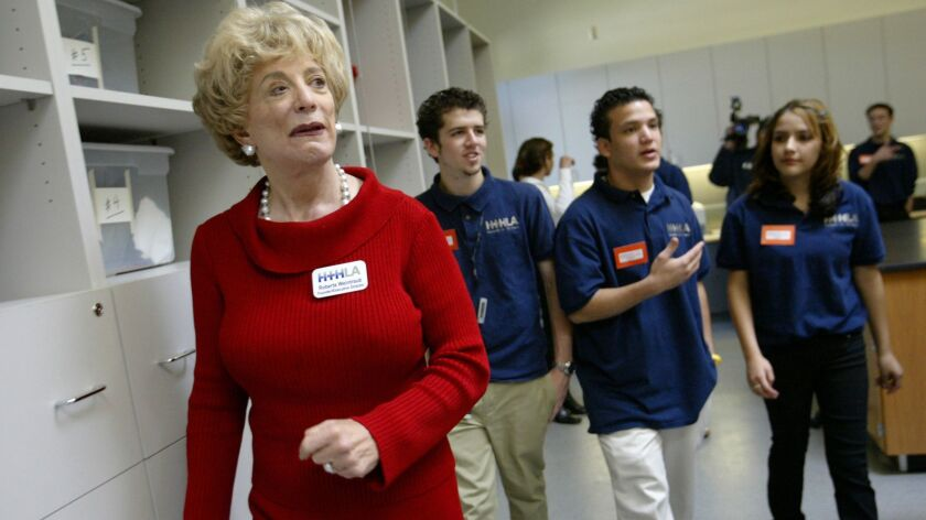 Roberta Weintraub at the opening of High Tech High on the campus of Birmingham High in Lake Balboa in 2004.