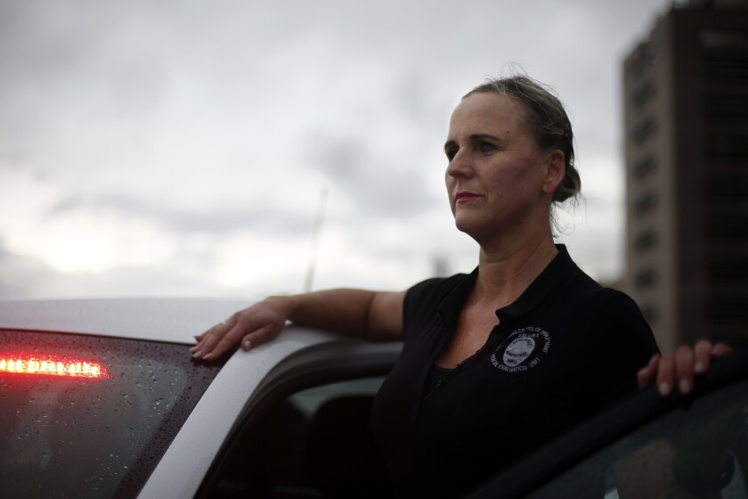 LAPD officer Stacy Pierce-Rogers works in the department's mental evaluation unit.