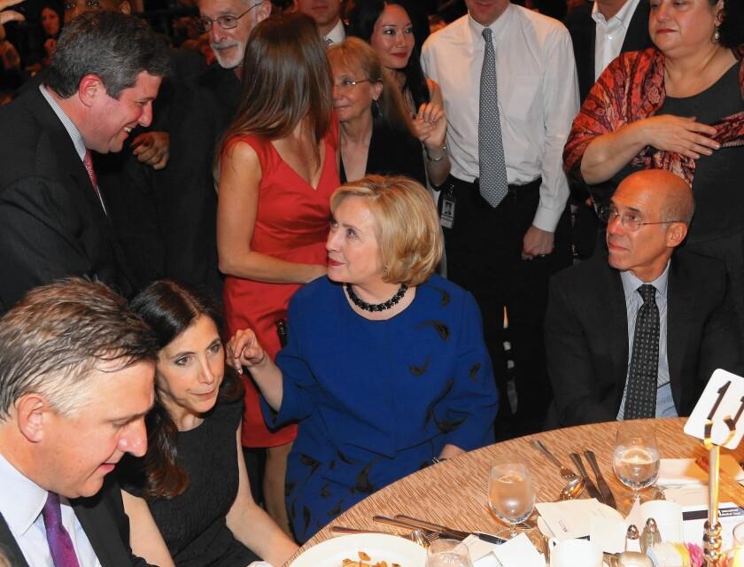 Hillary Clinton and Jeffrey Katzenberg