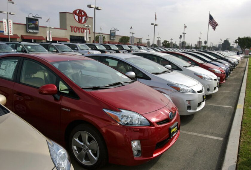Used Toyota Priuses such as the ones available for purchase on Vroom, an online marketplace for car buyers and sellers.