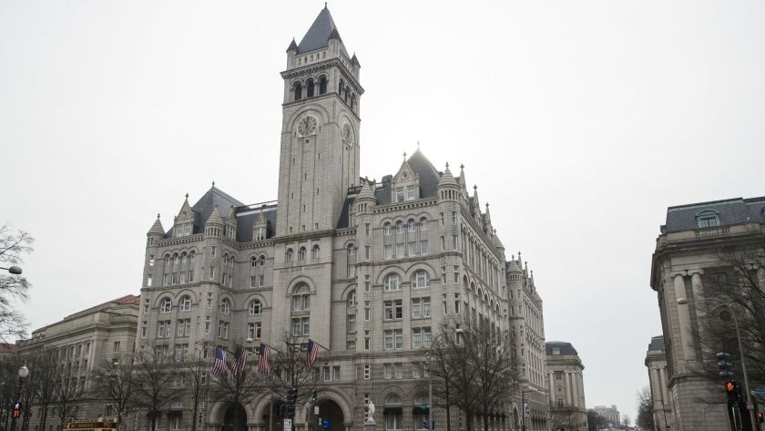 The Old Post Office Pavilion Clock Tower, which remains open during the partial government shutdown,