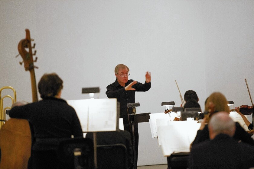 """David Robertson conducts the St. Louis Symphony Orchestra in the American debut of John Cage's """"Thirty Pieces for Five Orchestras."""""""