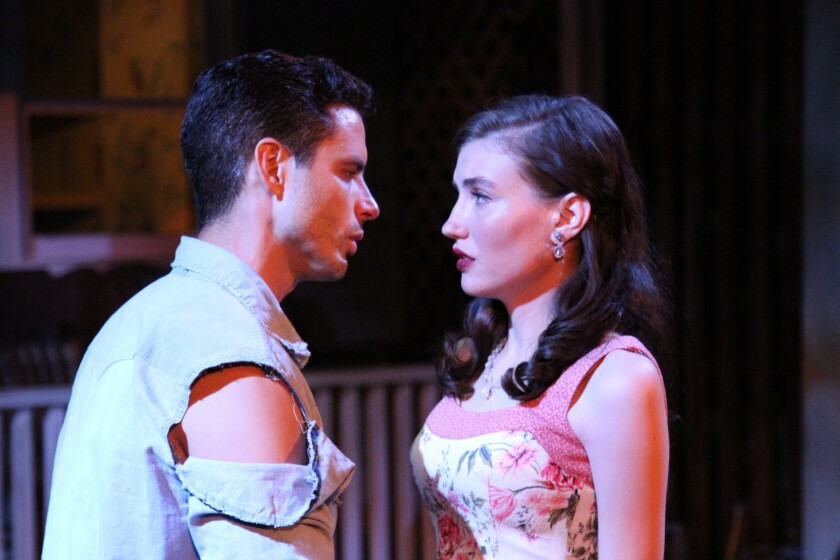 "Daniel Bess and Jordan Monaghan in ""Picnic"" at Antaeus Theater Company."