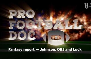 Pro Football Doc: Fantasy report — Johnson, OBJ and Luck
