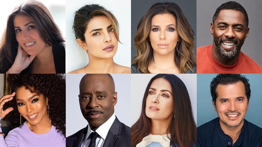 Nina L. Diaz, Priyanka Chopra Jonas, Eva Longoria, Idris Elba, John Leguizamo, Salma Hayek, Courtney B. Vance, Angela Bassett