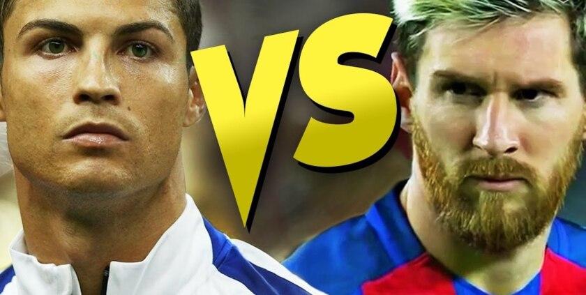 Cristiano Ronaldo y Lionel Messi... cara a cara.