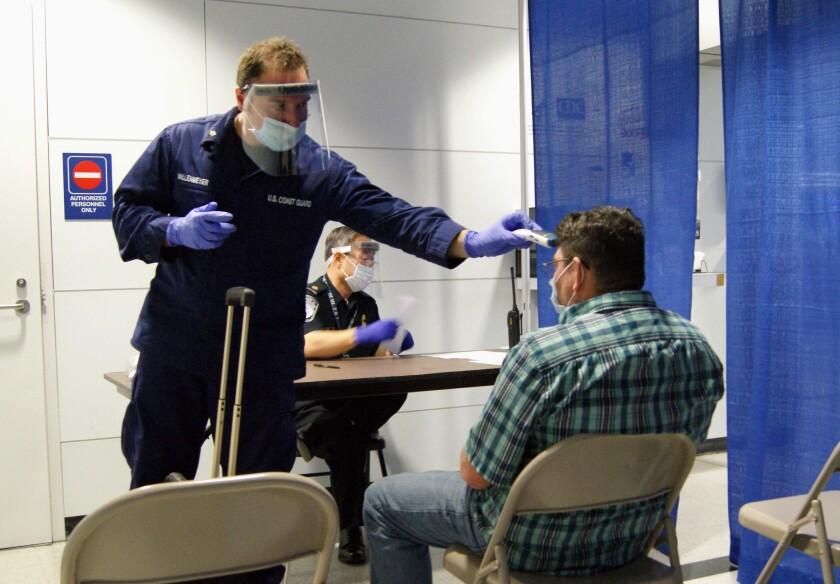 Ebola screening at O'Hare airport