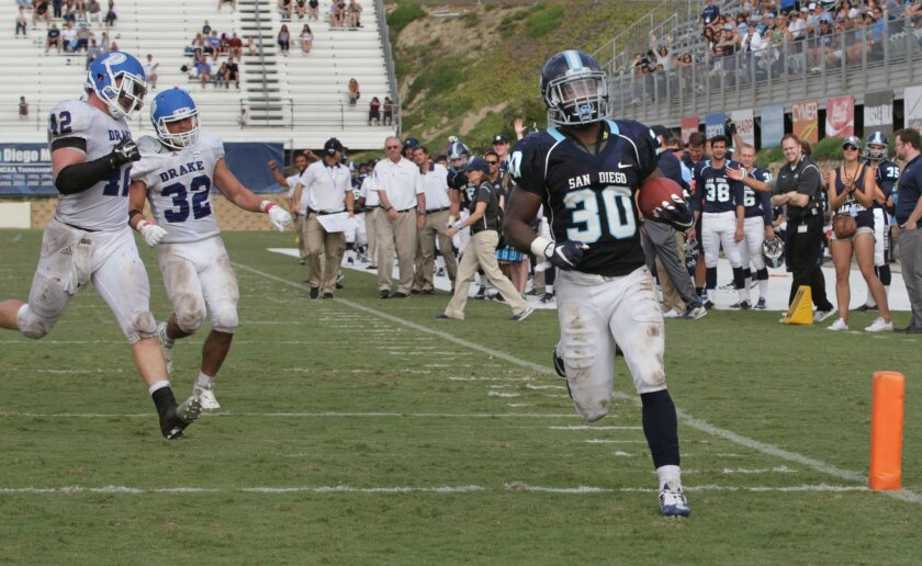 USD's Jereke Armstrong leads the team in rushing after playing safety his first two seasons.